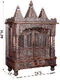 "Pooja Mandir of OXidized Temple with Three Domes L 28"" x W 15"""