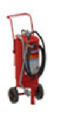 25 KG D FV D METAL FIRE PORTABLE TROLLEY MOUNTED FIRE EXTINGUISHERS