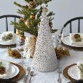 Fairy Lights Silver Christmas Tree