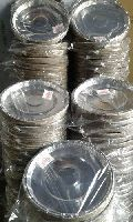 Round Silver Paper Plates