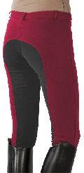 Ladies Two Tone Euro Cotton Lycra Fabric Breeches