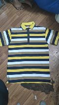 Mens Polo Neck Striped T-Shirts
