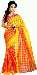 Cotton Silk Checks Saree