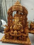 Fine Wooden Ganesh Statue