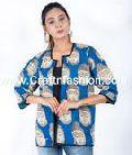 Buddha Print Kalamkari Fashion Jacket