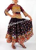 Hand Embroidered Girl's Cotton Rabari Skirt