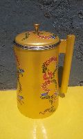 Hand painted Jug with lid