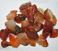 Red Carnelian Pebble Chips Stones