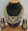 Cubic Zirconia American Diamond Necklace - 20