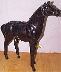 Leather Animal Horse Standing - 3016