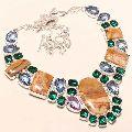 Multicolor Gemstone Beaded Necklace