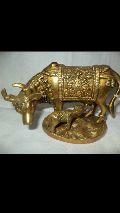 Brass Cow & Calf Statue