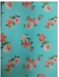 Polyester Crepe Floral Print Fabric
