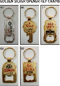 Golden and Silver Opener Keychains