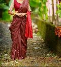 Ghicha daie silk saree