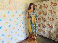 hand printed saree