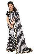 Black Cobra Embroidered Sarees