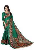 Green Kalamkari Silk Sarees