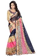 Pearl Navy Embroidered Sarees