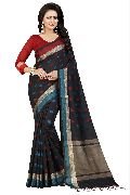 Two Square Black Jacquard Sarees