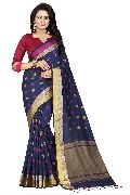 Two Square Navy Jacquard Sarees