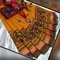 cotton printed chettinad sarees with kalamkari blouse price- rs880 each including running blouse no