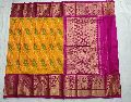 Exclusive Ikkat kanchi border Sarees