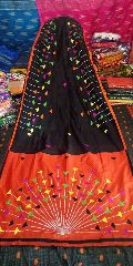 handloom cotton silk applique work sarees