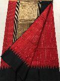 handloom khadi silk sarees with temple border and blouse
