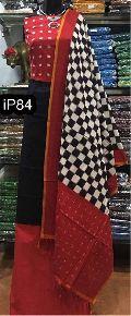 handloom top with Double ikkat mercerised handloom cotton dupatta