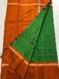 contrast temple border pallu Pure handloom khadi silk sarees