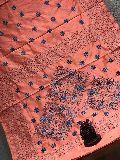 Soft silk with kantha work sarees