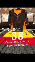 TPR cotton and rayon embroidered kurtis