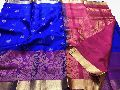 kanchi gadwal pattu sarees with meenakari weaving border