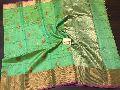 Pure Banarasi Chanderi Katan sarees With Rich Pallu n Brocade Zari Blouse