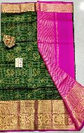 Pure Handloom Gadwal Silk Sarees with pure Kanjivaram Borders