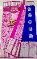 Pure Kanchi Kora silk Sarees with rich pallu and blouse