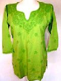 Chikan Embroidered Kurti 01