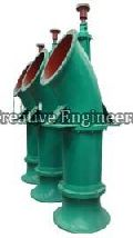 Single stage vertical axial flow pumps