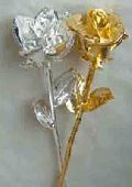 Real Rose In 999 Silver