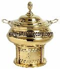 Brass Food Warmer with Serving Dish