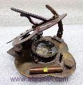 Antique Nautical Brass Sundial Compass