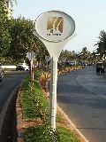 GRP LOLLIPOP for road divider advertising