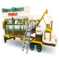 Mobile Batching Plant With Pan Type Mixture
