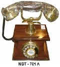 Brass Wooden Maharaja Telephone