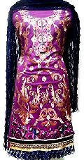 Ladies Embroidered Woolen Unstitched Suits