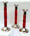 Brass Acrylic Candle Holder