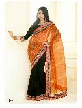 Beautiful Look Indian Designer Bollywood Style Attractive Party Wear Embroidered Saree