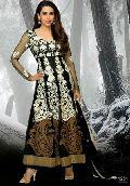 Black Designer Ethnic Look Long Anarkali Suit