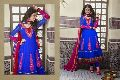 Blue Colour Party Wear Long Anarkali Salwar Kameez